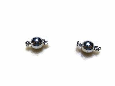 Magnetic Silver Clasp with jump rings Set of 3 Jewellery Findings