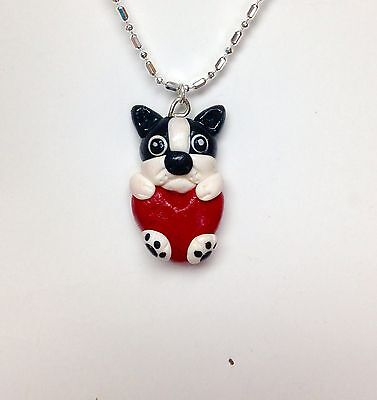Boston Terrier pendant ( Chain Not Included)