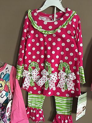 Girls Size 3T Lot Of 4 Name Brand Adorable Pant Sets NWT