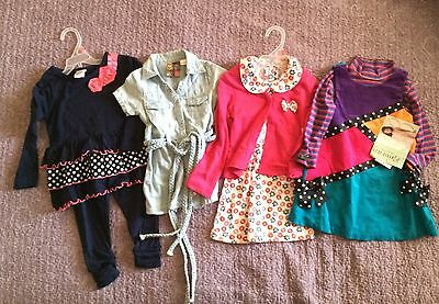 Lot Of Girls Size 2 Name-brand Outfits NWT 1 Snap Missing On Guess Dress