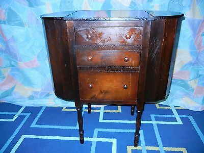 Early 20th Century Mahogany Sewing - Lamp Table Martha Washington Federal Style