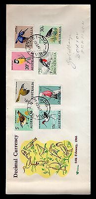 Australia 14/02/1966 Decimal Currency FDC bird issues see scans x2