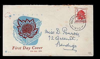 Australia 1959 FDC QUARRY HILLS cancel see scans for cover condition