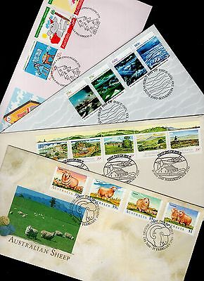Australia 4x FDC with pictorial cancels see scans x2