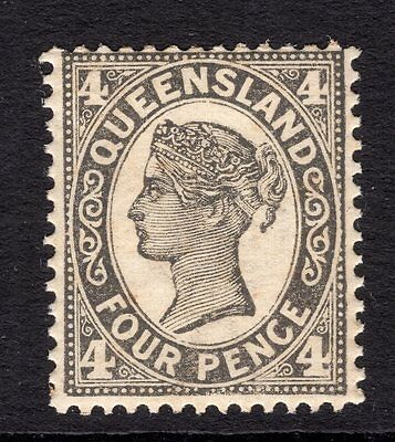Queensland 4d QV issue SG 305a die II CV£140 MH see reverse scan for condition