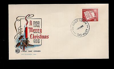 Tasmania GEORGETOWN 1960 cancel on Christmas WCS FDC  see scans x2