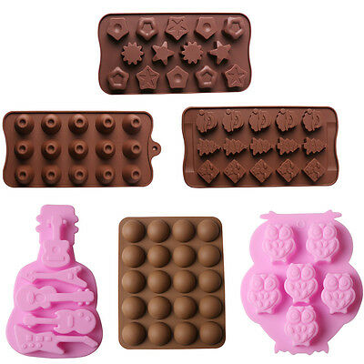 6 Styles Silicone Chocolate Cake Mold Flexible Mould For Candy Cake Kitchen Tool
