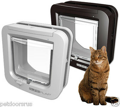 NEW - SureFlap Microchip Cat Flap & Mini Size Dog Door Keeps Out Neighbours Cats