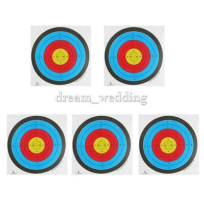 Pack of 5 Target Paper Faces Bow Archery Shooting Practice 60cm
