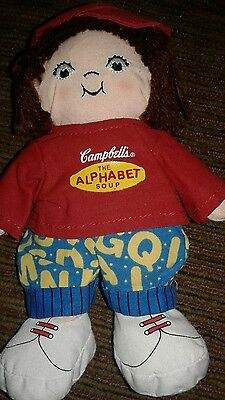 "8"" Vintage campbells soup plush doll girl  ""M'm M'm Good"""