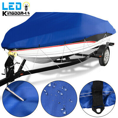14 15 16ft Fish Ski Boat Cover Waterproof Heavy Duty Trailerable V-Hull Beam 90""
