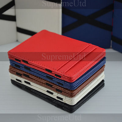 Ultra Thin Leather Magic Wallet Credit Card Holder Full Colour Edition 6 Colours