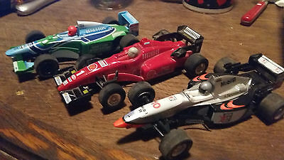 Lot 3 Voitures  Scalextric  Hornby  Formule 1