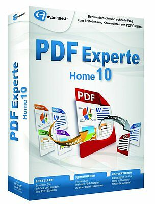 PDF Experte 10 Home  CD/DVD Version deutsch von Avanquest PDF Manager NEU !!!