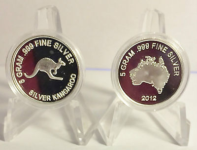 "2012 ""KANGAROO"" 5 Gram 999.0 Pure Silver Bullion Coin (Great Investment)"