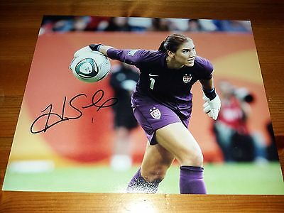 USA Soccer World Cup sports legend Hope Solo 8x10 Hand Signed Photo with COA