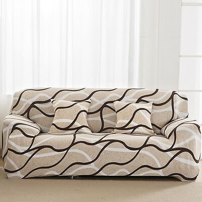 3-Seater Couch Sofa Cover Slipcover Stretch Protector Soft Washable Easy Fit