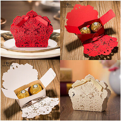 50x Wedding Candy Gift Boxes Party Favor