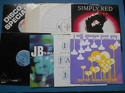 """X8 Pop 12"""" Singles Simply Red Level 42 Jb's All Stars And More"""