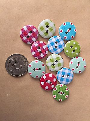 20 Pattern Buttons - Randomly Selected -