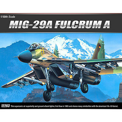 Academy 1/48 MIG-29A FULCRUM A FA086 Plastic Model Kit Airplanes #12263