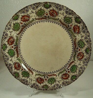 "Antique Dunn Bennett & Co Burslem ""Coronation"" 10 Inch Plate Made In England"