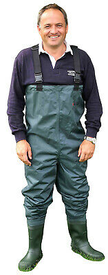Shakespeare Sigma Green Nylon Cleated Sole Chest Fly Fishing Wader Sizes 7 to12