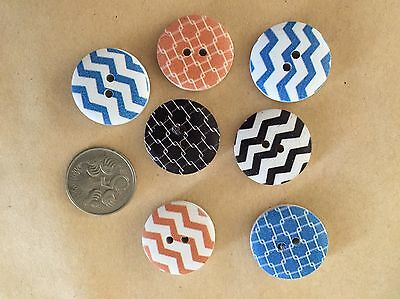 10 Chevron Mix Buttons - Randomly Selected -