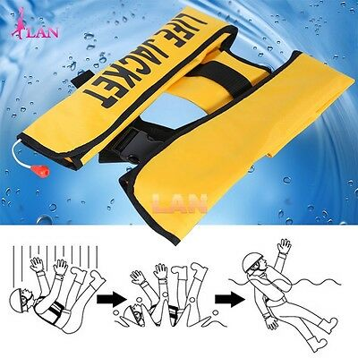 Adult Manual/ Automatic Inflatable Life Jacket Inflation PFD Survival Vest 2017