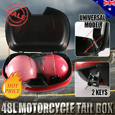 2017 48L Universal Motorcycle Scooter Large Top Tail Box Rear Storage Luggage OZ