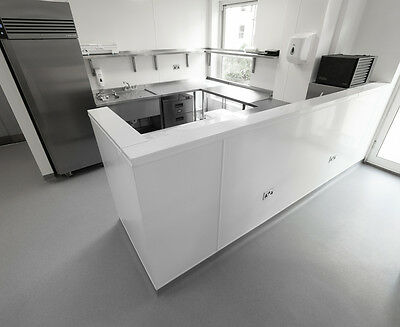 PVC Kitchen and catering hygienic cladding wall sheets 8' x 4' x 2mm