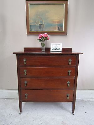 Antique Mahogany Chest of drawers ~ Original Handles