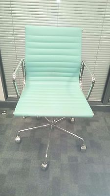 Green/blue High Back Executive Office Chair Faux Leather Computer Desk Furniture