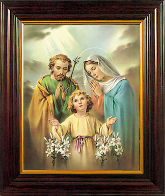 THE HOLY FAMILY FRAMED PICTURE - 100's OF RELIGIOUS STATUES AND CANDLES LISTED