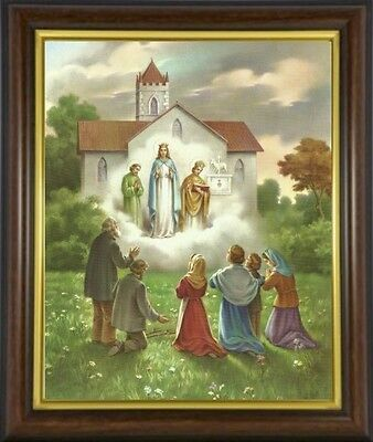 Our Lady Of Knock Queen Of Ireland Framed Picture Statues And Candles Listed M10