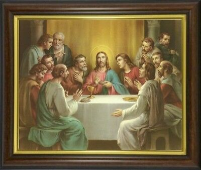 The Last Supper Jesus & Disciples - Framed Picture Statues & Candles Listed M10