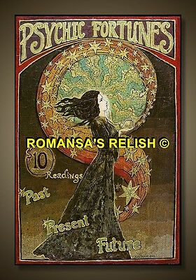 vintage  8X10 reproduced romany/gypsy fortune telling  poster 1900's vint 442