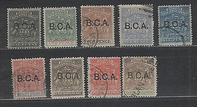 british central africa 1891 to 3/- mh/fu