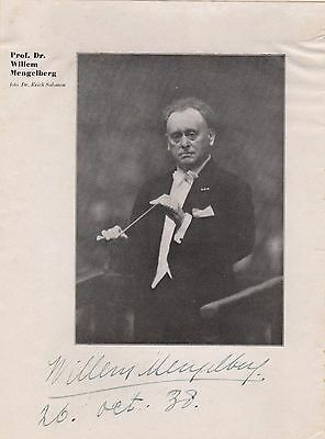 Willem Mengelberg Signed Dutch Conductor 1938 (Strauss Mahler) Classical Music