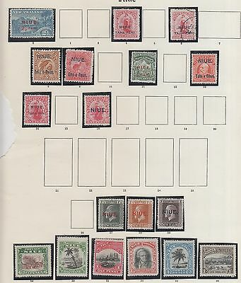 Niue, On 2 Pages Form Old Time Collection