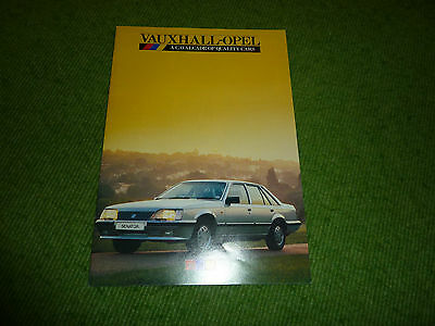 Vauxhall Ope.l A Cavalcade of Quality Cars  Brochure. c1985