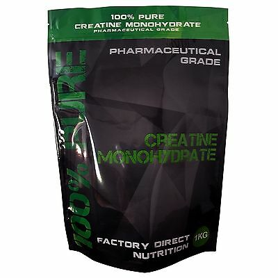 100% Pure Creatine Monohydrate 1Kg Micronized HPLC Tested Pre Workout