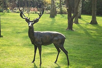 lage stag garden ornament sculpture, cast alluminium Large Deer Statue