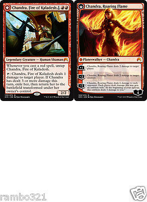 1x Chandra, Fire of Kaladesh / Roaring Flame + 10 Random Rares MTG Magic giftlot
