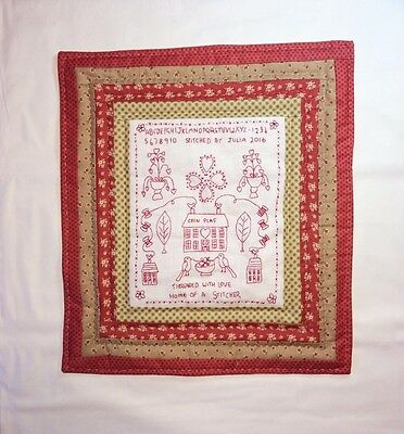 Naive redwork sampler kit