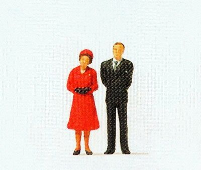 Preiser figurines 28132 HM The Queen and Prince HO Gauge 16,5 mm Accessorie