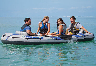 Intex Excursion 5 Inflatable Boat Set including Pump and Oars, 5 person. #68325