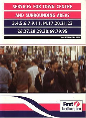Bus Timetable - First Northampton Sept 2000 Unmarked Stagecoach United Counties