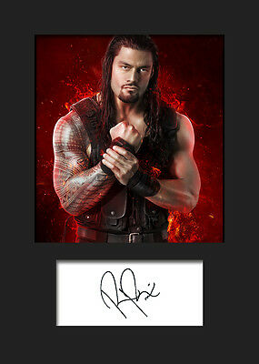 ROMAN REIGNS #1 (WWE) Signed Photo A5 Mounted Print - FREE DELIVERY