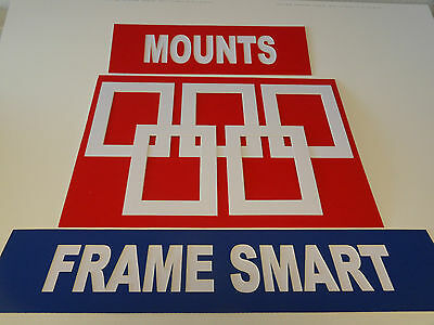 PURE WHITE picture/photo mounts, ALL SIZES, 5x5 to 20x16 to fit 3x3 to 16x12